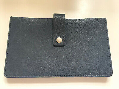 Fossil Ladies Purse Large Leather Notes Cards Navy Compartments  • 11.99£