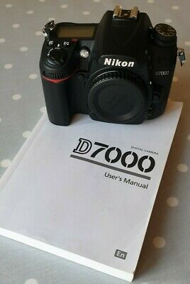 NIKON D7000 16.2MP DSLR Camera - (Body Only) - User's Manual, Battery/charger  • 249£
