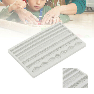 Vintage Rope Relief Silicone Cake Fondant Mold Border Decor Chocolate Mould  • 5.39£
