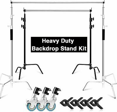 AU326.99 • Buy 10ft Professional Backdrop C Stand Heavy Duty Background Support System Studio