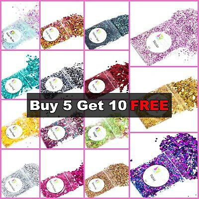 CHUNKY Festival Glitter 5g Bag, Face Eye Body Hair Tattoo Cosmetic Glitter Party • 1.49£