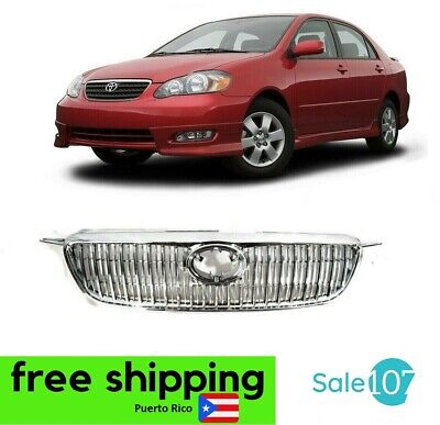 $98.77 • Buy Fits For 2003-2008 Toyota Corolla Altis JDM Front Bumper Grille Chrome Grill