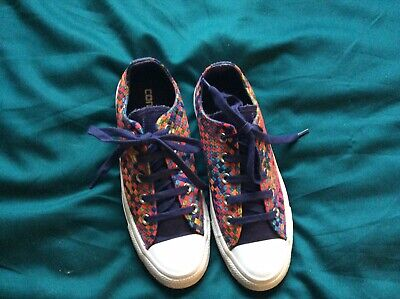 Converse All Star Women's Multi Coloured Canvas Trainers, Size 4 • 13.99£