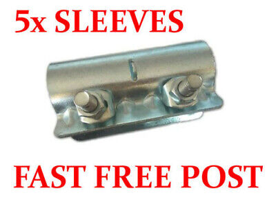 5 X Scaffolding Scaffold Fittings Sleeves + 6 X Fixed Double Couplers Clamps • 35£