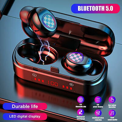 $ CDN10.97 • Buy Mini Bluetooth 5.0 Headset TWS Wireless Earphones Stereo Headphones Earbuds 2021
