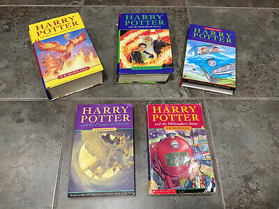 $ CDN95 • Buy Harry Potter Set Lot Of 5 Hardcover/Paperback Books Bloomsbury