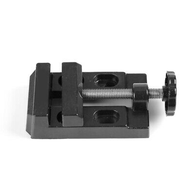 Mini Drill Vise Aluminum Alloy Flat Clamp Bench Jewelry Nuclear Clip On DIY • 7.82£
