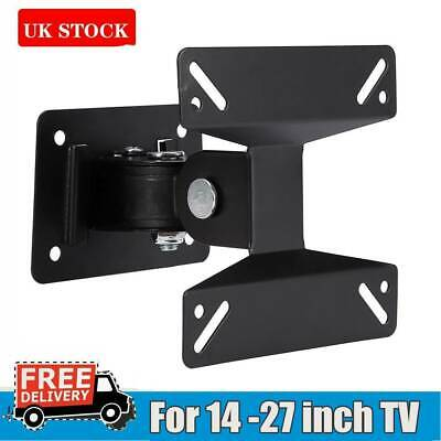 Swivel Tilt TV Wall Bracket Mount 14 16 18 19 20 21 22 23 24inch LED LCD Monitor • 5.49£