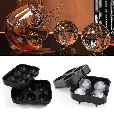 Ball Ice Cube Maker Large Tray Big Rubber Mold Sphere Whiskey DIY Round Mould UK • 6.29£