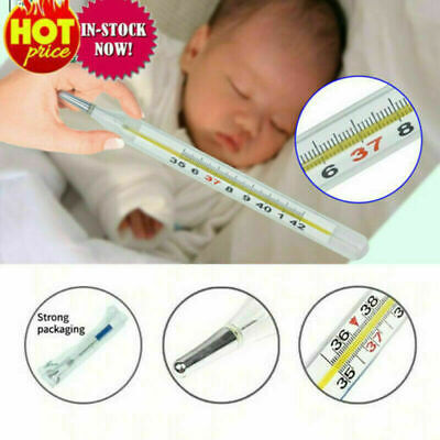 1X Adult Kids Thermometer Scale Traditional Glass Clinical Accuracy UK • 3.90£