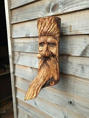 £29.99 • Buy Chainsaw Carved Green Man / Wood Spirit