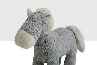 £13.99 • Buy Horse Soft Toy Cuddly Grey Pony Teddy With Knitted Fabric By Beehive Toys
