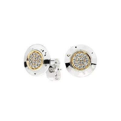 AU27 • Buy S925 Sterling Silver Two Tone Logo Signature Studs Earrings