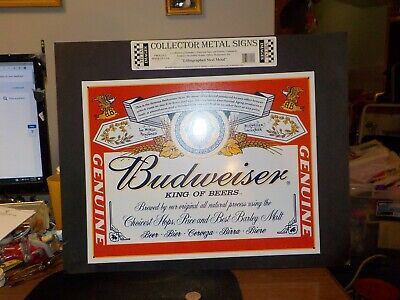 $ CDN17.71 • Buy Collector Metal Budweiser Sign 16 X 12  King Of Beers