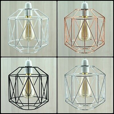 £12.89 • Buy Metal Wire Style Cage Retro Ceiling Pendant Lamp/light Shade Modern Basket Cafe