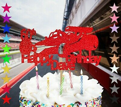Personalised Formula 1 Car Themed Birthday Cake Topper Single Sided Glitter F1 • 2.75£