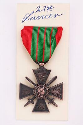 Ww2 French Croix De Guerre Cross Of War Medal Full Size 1930-40 • 17.50£