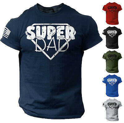 $12.90 • Buy Men's Fathers Day T Shirt Funny Dad Gift Super Dad Tee