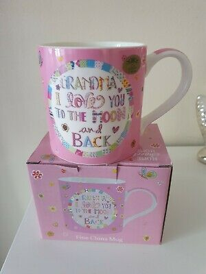 Brand New Grandma I Love You To The Moon And Back Mug Boxed  • 5.99£