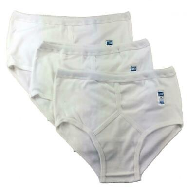 Mens Briefs Underwear Y Fronts (Pack Of 3) White 100% Cotton S M L XL 2XL UK • 8.99£