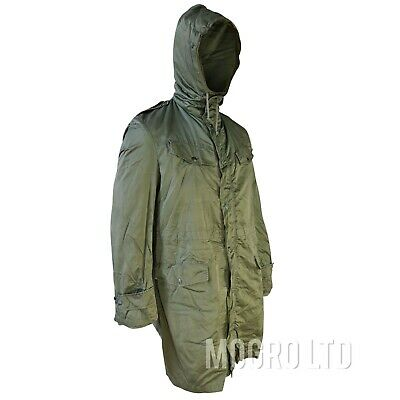 £17.47 • Buy Genuine Belgian Army Military M70 Fur Lined Hooded Parka Coat Olive Green