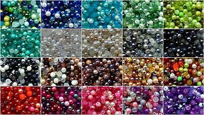 £2.65 • Buy BUY 3 GET 3 FREE 400 4mm, 200 6mm Or 100 8mm Bead Mix Inc. Pearl Crackle Etc...
