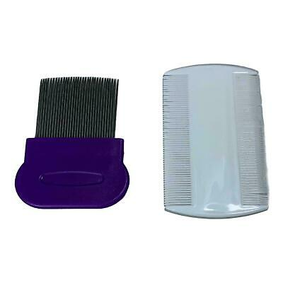 2pc High Quality Metal & Plastic Nit Comb Fine Tooth Detection Remove Lice Eggs • 1.98£
