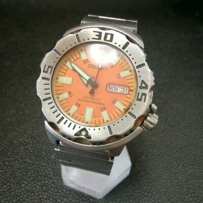 $ CDN679.12 • Buy Seiko Divers Day Date Orange Monster Automatic Mens Watch Authentic Working
