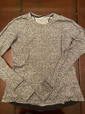 $ CDN67.99 • Buy Lululemon Runderful Long Sleeve Sz 10 Reconnect Jacquard Running Luon White Blk