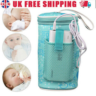 £13.40 • Buy Portable Baby Bottle Warmer Heater Travel Infant Milk Water USB Cover Pouch Bag