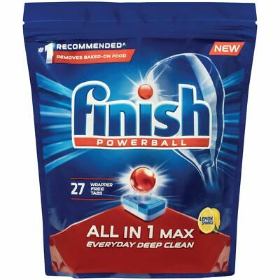 AU18.99 • Buy Finish All In One Max Dishwasher Tablets Lemon 27 Pack