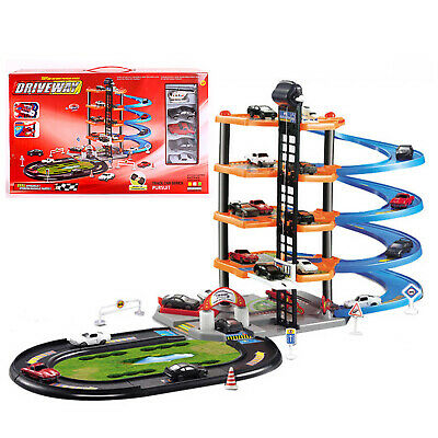 Kids Garage Multistory Garage Toy Set Parking Activity Pretended Track Xmas Gift • 12.99£