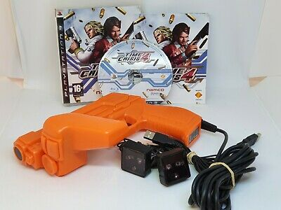 TIME CRISIS 4 GAME SONY PLAYSTATION PS3 OFFICIAL G-CON 3 LIGHT GUN + SENSOR Lot • 85.99£
