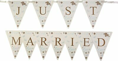 1m 'Just Married' Mini Paper Bunting Flag Banner Wedding Party Decoration • 2.65£