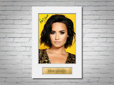 £8.99 • Buy Demi Lovato A4 Printed Signed Autograph Photo Display Mount Gift
