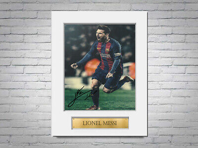 Lionel Messi FC Barcelona A4 Printed Signed Autograph Photo Display Mount Gift • 8.99£