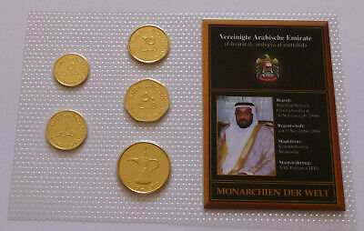 £40 • Buy United Arab Emirates Coin Set, Monarchies Of The World - 24K Gold Plated