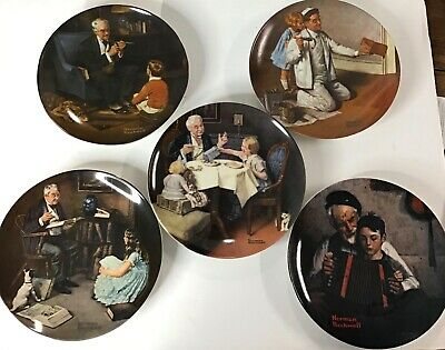 $ CDN29.84 • Buy Lot Of 5 Norman Rockwell Heritage Collection Plates Fine China Numbered