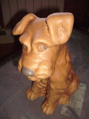 SYLVAC LARGE TERRIER DOG No.1380 Brown APPROX 11 1/2  HIGH Type • 50£