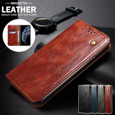 AU15.99 • Buy For IPhone 12 Mini 11 Pro Max X XS XR 8/7/SE Case Leather Wallet Card Flip Cover
