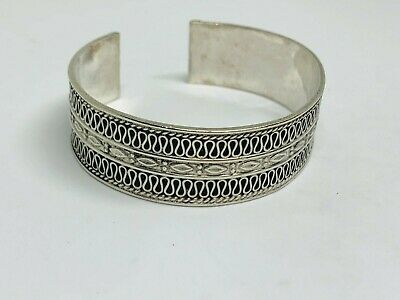 Stunning Wide & Heavy Balinese Torque Cuff Bangle 925 Solid Silver 35.80g #11672 • 53£