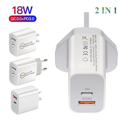 AU7.95 • Buy AU Plug PD 18W USB-C Type C Fast Wall Charger Adapter For IPhone 12 11 X Android