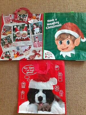 Large Re-Usable Christmas Shopping Bag - Bag For Life - 3 Designs - Heavy Duty • 3.99£