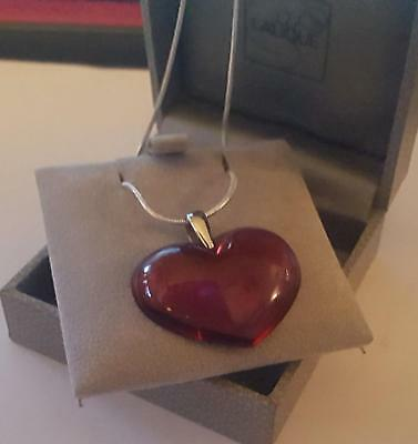 Lalique Fabulous Large  Heart 925  Silver Chain Stunning • 149.99£