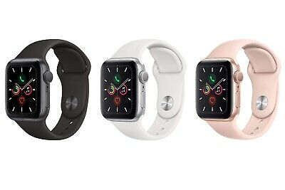 $ CDN371.46 • Buy Apple Watch Series 5 44mm 40mm GPS Aluminum Case Silicone Band SHIPS SAME DAY!