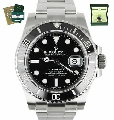 $ CDN15372.90 • Buy 2020 ROLEX SERVICE RSC Submariner Date 116610 Stainless Black Ceramic 40mm Dive