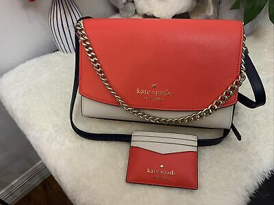 $ CDN182.92 • Buy KATE SPADE CARSON CONVERTIBLE CROSSBODY SHOULDER LEATHER Carson Red With Wallet