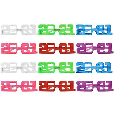 2021 Beach Cosplay Light Up Glasses 3D Glasses 12 Pairs LED Glasses 3D Glowing • 4.85£