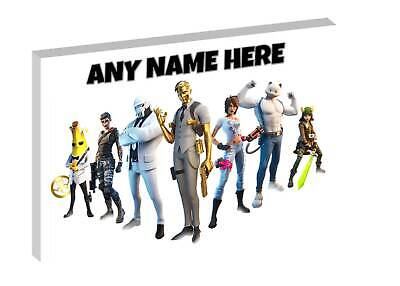 FORTNITE -  PERSONALISED FORTNITE CANVAS PICTURE - FREE POST Ft2 • 9.97£