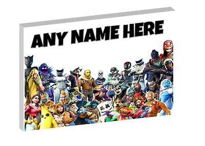 FORTNITE -  PERSONALISED FORTNITE CANVAS PICTURE - FREE POST Ft3 • 12.97£